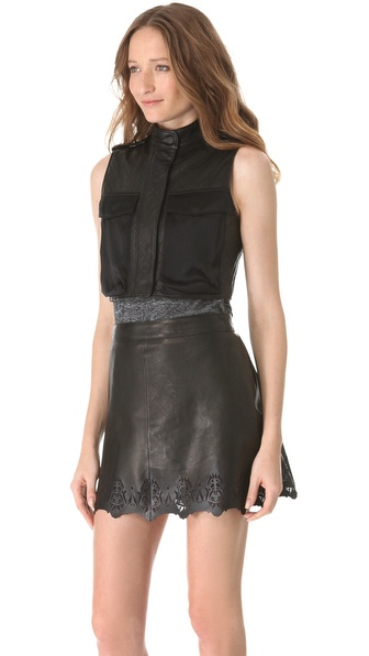 Rag & Bone Highclare Leather Vest