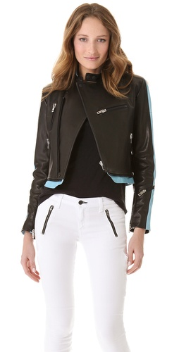 Shop Rag & Bone Knieval Leather Jacket and Rag & Bone online - Apparel,Womens,Outwear,Moto,Bomber, online Store