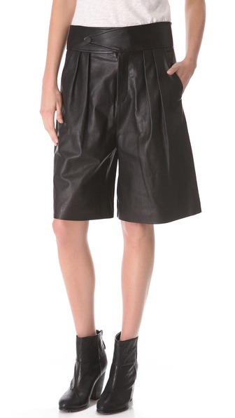 Rag & Bone Dakar Leather Shorts