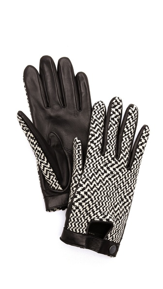Rag & Bone Beacon Gloves - Black/White at Shopbop