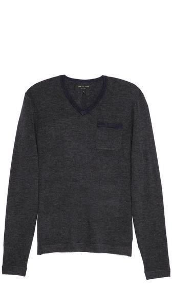 Rag & Bone Connor V Neck Sweater
