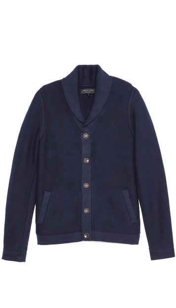 Rag & Bone Donaghy Shawl Button Cardigan