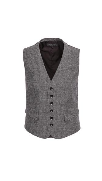Rag & Bone Grosvenor Melange Waistcoat