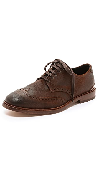 Rag & Bone Archer Waxed Suede Wingtip Brogues