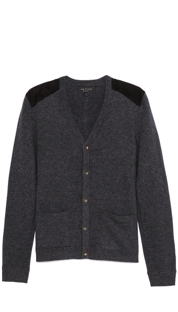 Rag & Bone Zeeland Cardigan with Leather Trim