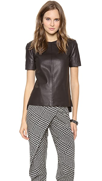Rag & Bone Aviemore Leather Top