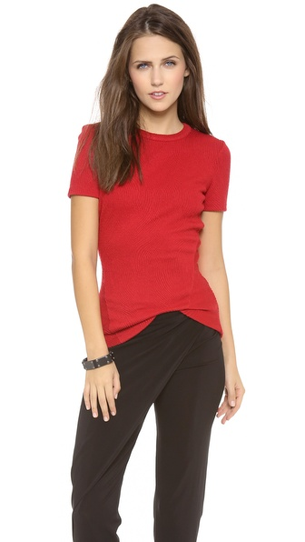 Rag & Bone Grove Zip Back Tee