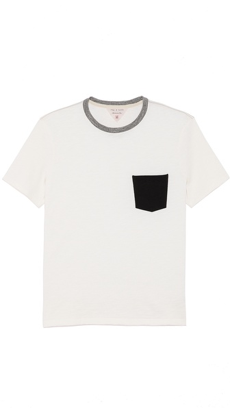 Rag & Bone Colorblock Pocket T-Shirt