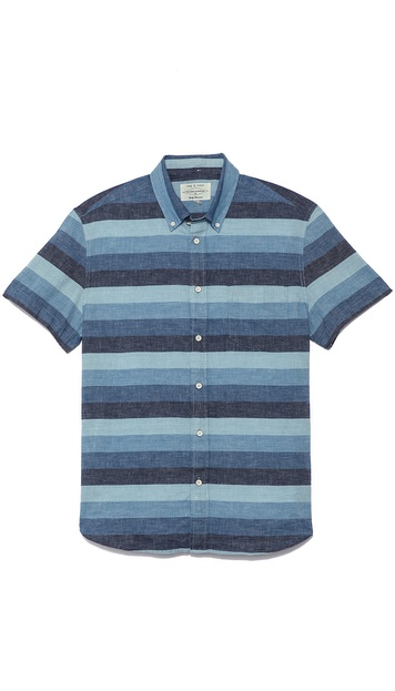 Rag & Bone Short Sleeve Oxford Shirt