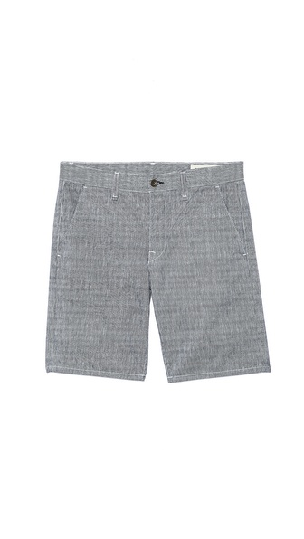 Rag & Bone Grainstripe Blade Shorts