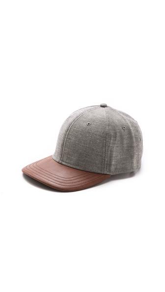 Rag & Bone Baseball Cap with Leather Brim