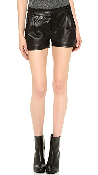 Rag & Bone Leather Tennis Shorts