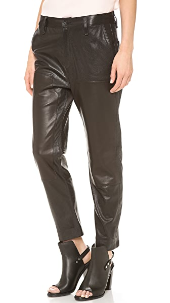 Rag & Bone Leather Carpenter Pants