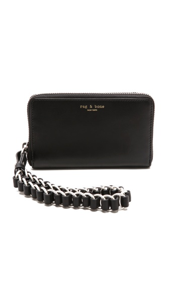 Rag & Bone Devon Mobile Zip Wallet - Black at Shopbop / East Dane