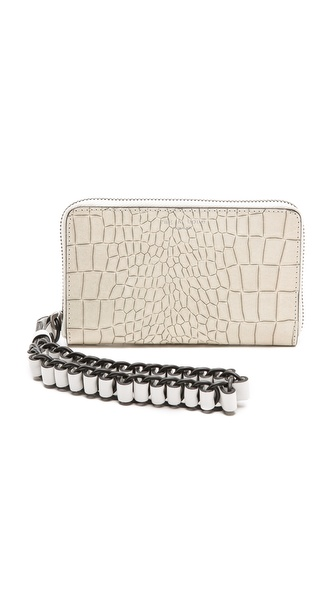 Rag & Bone Devon Mobile Zip Wallet - White Croc at Shopbop / East Dane