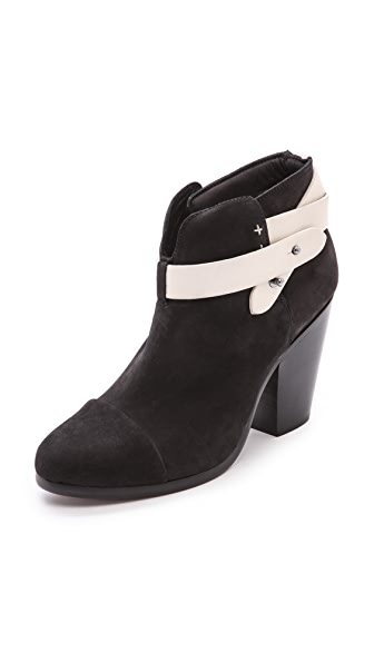 Rag & Bone Harrow Booties with Leather Strap