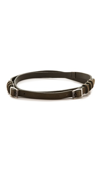 Rag & Bone Double Wrap Belt - Dusty Olive