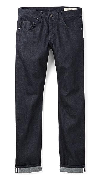 Rag & Bone Standard Issue Fit 3 Tonal Selvedge Jeans