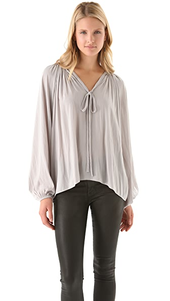Ramy Brook Paris V-Neck Caftan Blouse