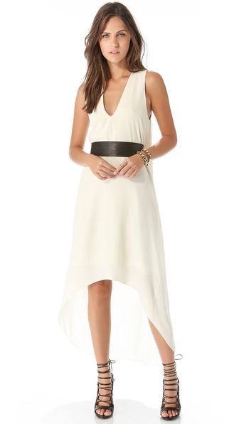Ramy Brook Aubrey Dress with Leather Belt