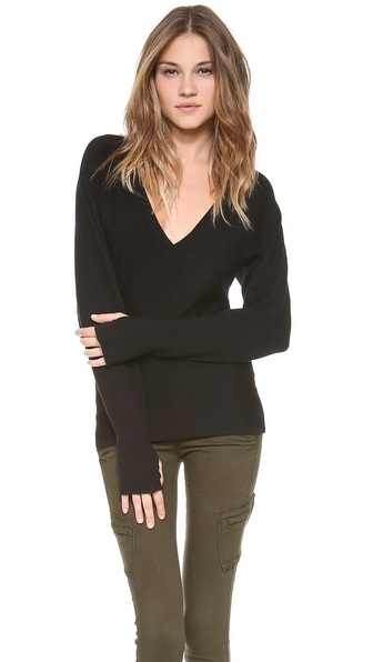 Ramy Brook Bette V Neck Sweater