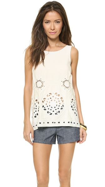 Ramy Brook River Beaded Open Back Top