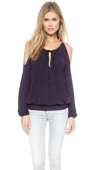 Ramy Brook Faye Long Sleeve Cold Shoulder Top