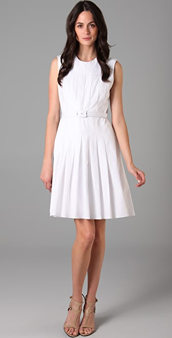 Raoul Box Pleated Dress