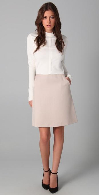 Raoul Long Sleeve Combo Dress