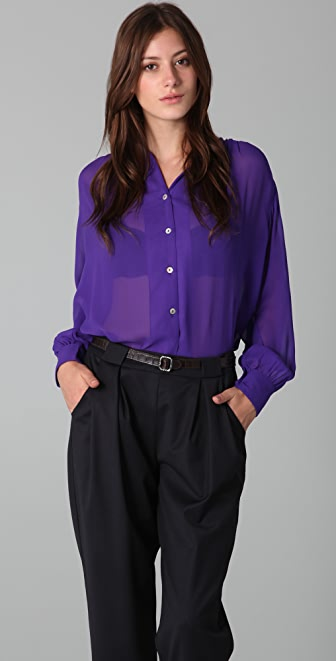 Raoul High Neck Blouse