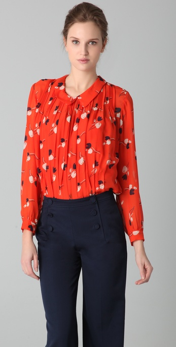 Raoul Radiating Tulip Print Blouse