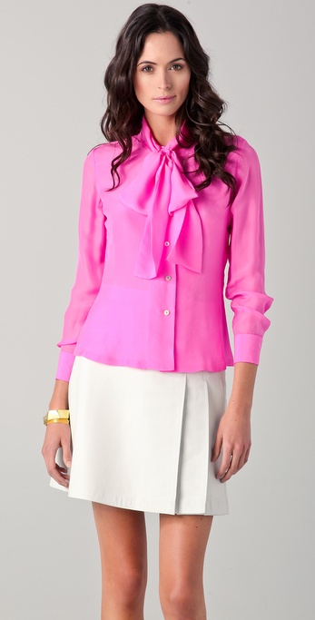 Raoul French Cuff Tie Blouse