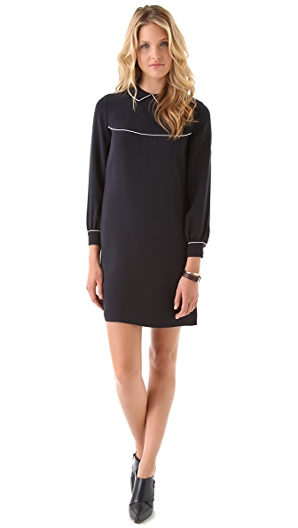 Raoul Piped Collar Dress