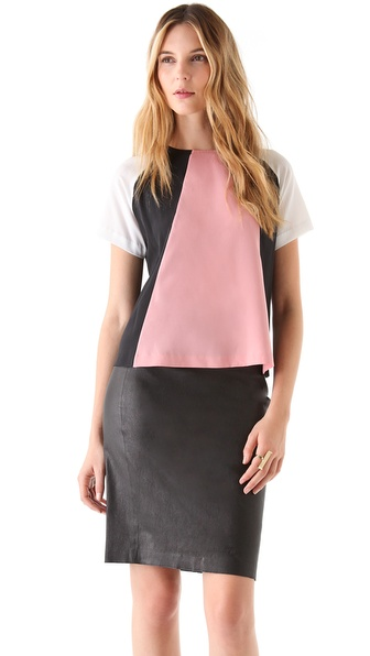 Raoul Colorblock Geometric Tee