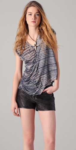 Raquel Allegra V Neck Sleeveless Tee
