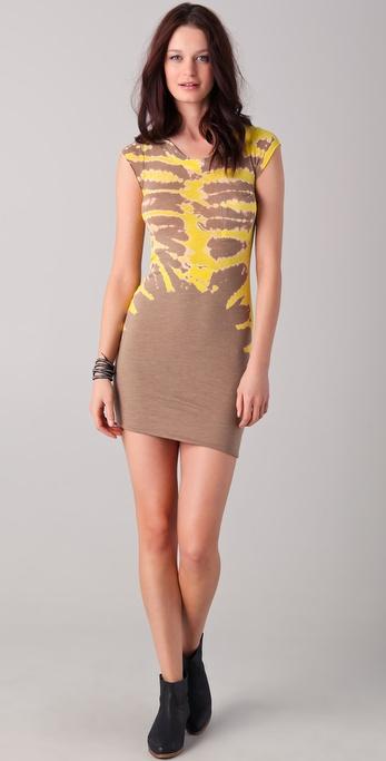 Raquel Allegra Fitted Tie Dye Dress
