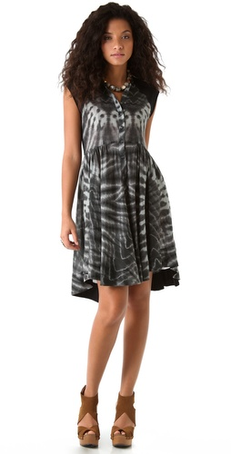 Raquel Allegra Printed Raglan Dress