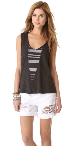 Raquel Allegra Sleeveless V Tee