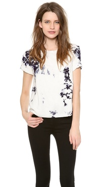 Raquel Allegra Silk Slub Pocket Tee