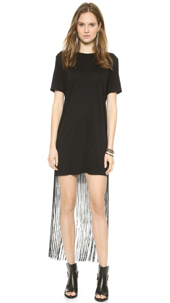 Raquel Allegra Fringe Tee Shirt Dress
