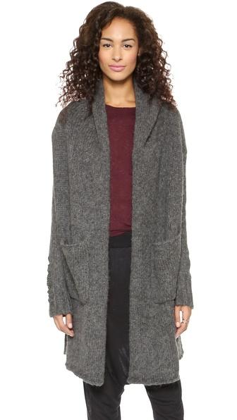 Raquel Allegra Deconstructed Hooded Coat