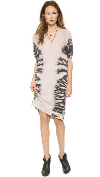 Raquel Allegra Sheer Combo Raglan Dress