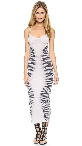 Raquel Allegra Sheer Combo Bra Top Dress