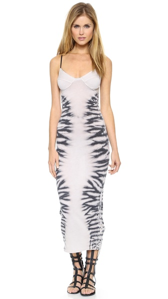Raquel Allegra Sheer Combo Bra Top Dress