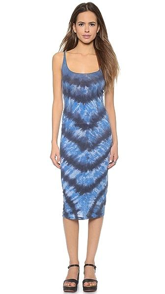 Многослойное платье-майка Raquel Allegra. Цвет: размытый бело-голубой