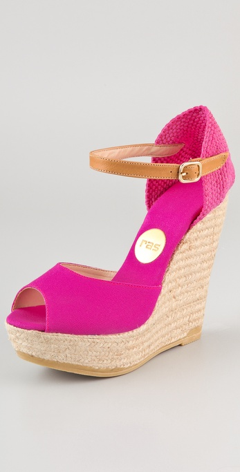 Ras Open Toe Wedge Espadrilles