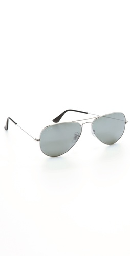 Ray-Ban Mirrored Original Aviator Sunglasses at Shopbop.com
