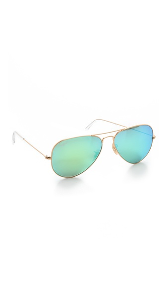 Ray-Ban Mirrorred Matte Classic Aviator Sunglasses