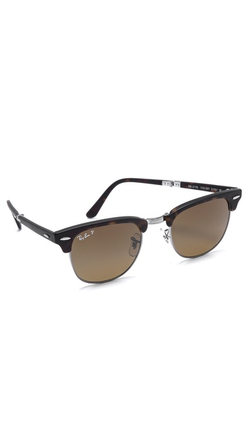 Ray-Ban Clubmaster Folding Polarized Sunglasses