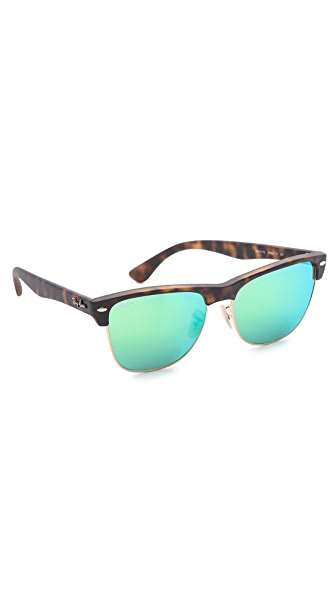 Ray-Ban Oversized Clubmaster Sunglasses with Mirrored Lens